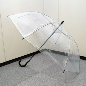 透明のビニール傘