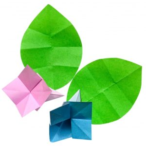 折り紙のアジサイ