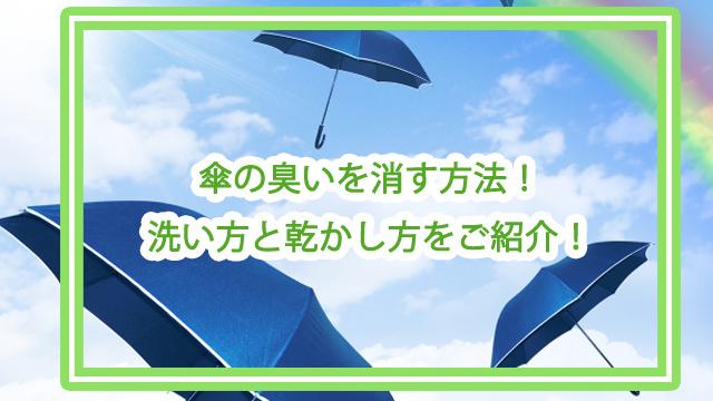 傘 臭い 消す 方法