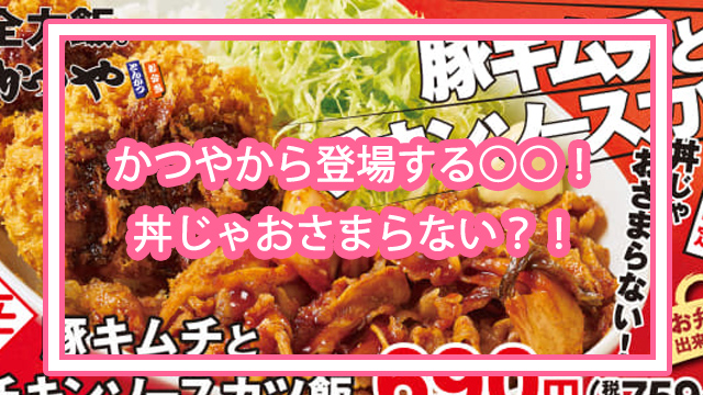 豚キムチとチキンソースカツ飯
